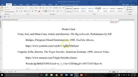 mla works cited film  ways  cite    mla