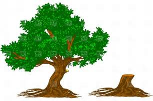 tree and stump free vector clipart image 4563 rfclipart