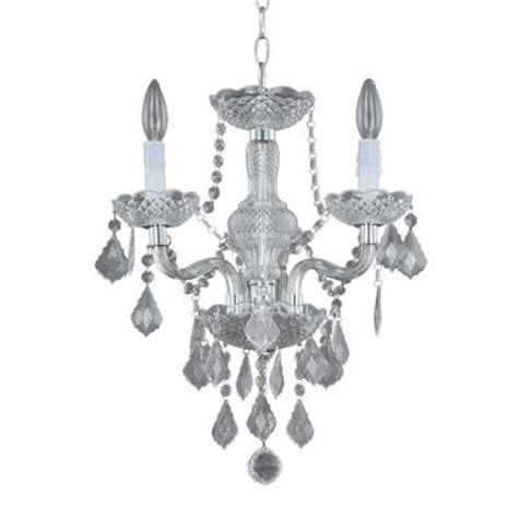 Hton Bay Theresa Chandelier by Hton Bay 3 Light Chrome Theresa Mini Chandelier
