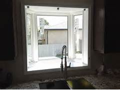Bow Window Replacement With 3 Lite Double Hungs Amp Picture Window Clevelan