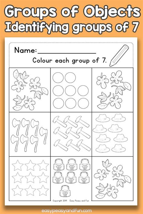 counting groups  objects worksheets  counting
