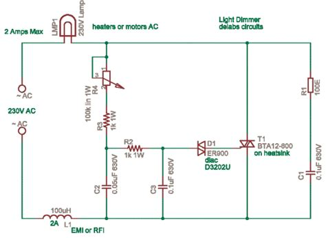 Triac Based Lamp Dimmer Power Control Delabs
