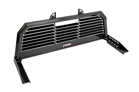 aluminum headache rack cab rack gloss black aluminum louvered incl