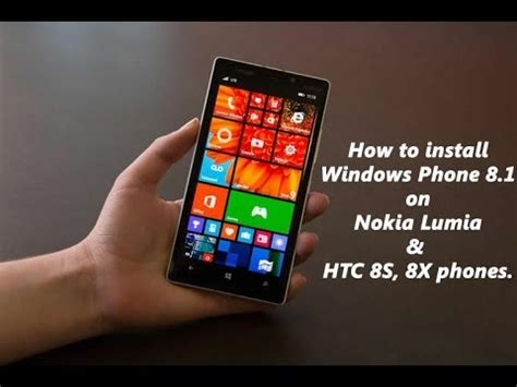 how to install windows phone 8 1 on lumia 520 525 620 625 720 920 1020