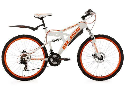mountainbike mädchen 26 zoll ks cycling fully mountainbike 26 zoll wei 223 orange 21 kettenschaltung 187 bliss 171