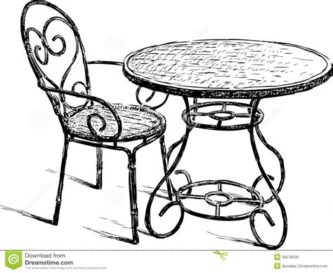 dessiner une chaise table and chair stock photo image of restaurant outdoors