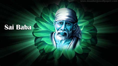 Sai Baba Image Portrayed In Flower On Beautiful Background