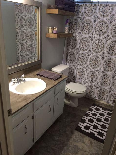 Bathroom Mirror Remodel by Bathroom Remodel On A Budget Vinyl Tile Floors Ardex