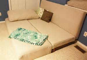 Couch Converts into Bed DIY