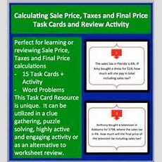 Percents  Simple Interest  Notes, Task Cards, And A Problem Solving Worksheet  Math On The