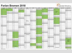 Ferien Bremen 2018 Ferienkalender zum Ausdrucken