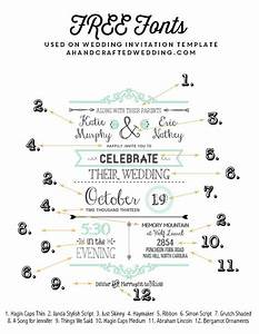 free fonts to use on rustic or vintage inspired wedding With wedding invitation print font