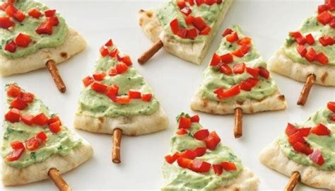 pita christmas tree appetizers great for holiday parties