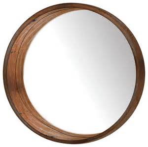 Antique Bedroom Furniture For Sale by Round Wooden Wall Mirror Rustic Wall Mirrors By Ptm