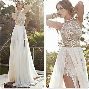 Lace prom dress, backless prom dress, sexy prom dress ...