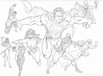 Justice League Coloring Pages Printable Colouring Dc