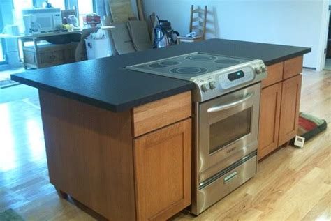 kitchen island with slide in stove slide in range for the island kitchen 9453