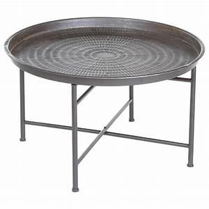 Table D Appoint Salon : table d 39 appoint design instants nature 65cm gris ~ Melissatoandfro.com Idées de Décoration