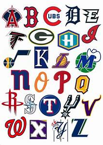 pro sports teams 39abc39 printable worksheets pinterest With sports alphabet letters