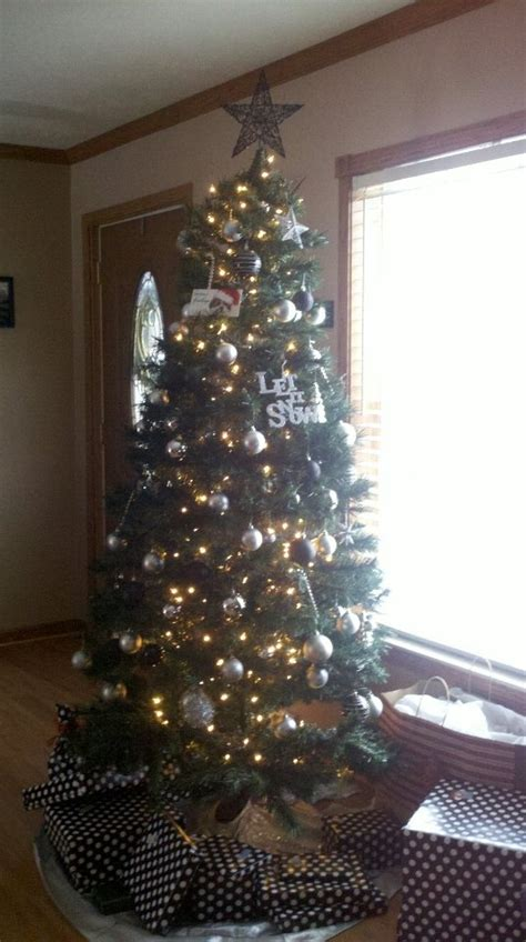 black and silver christmas tree black pewter silver