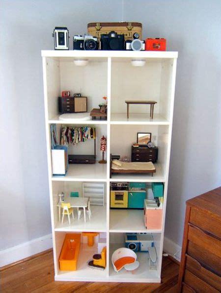 diy dollhouse    simple bookcase  ikea