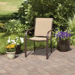 mainstays stacking sling chair dune patio furniture