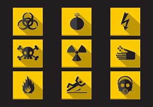Danger Warning Flat Icons Vector Collection - Download ...
