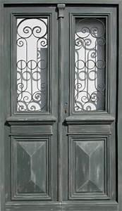 Grille Porte D Entrée : double porte vitr e avec grille peinture patin e portes d ~ Melissatoandfro.com Idées de Décoration