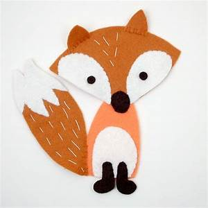 free felt fox pattern and tutorial free felt toy With template of a fox