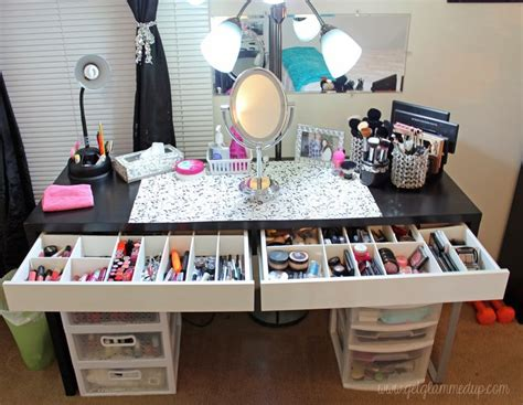 Diy Makeup Desk Ikea by 17 Best Images About Ikea Vanity On Makeup