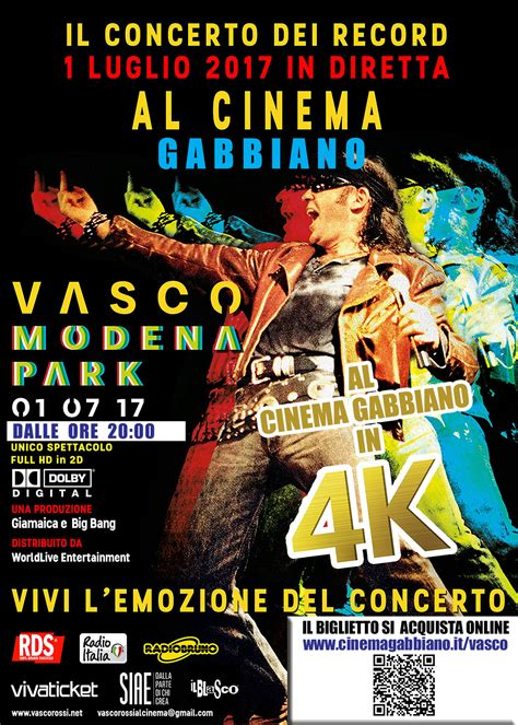 Cinema Il Gabbiano Senigallia Vasco Modena Park 2017 Cinema E Teatro Gabbiano Di
