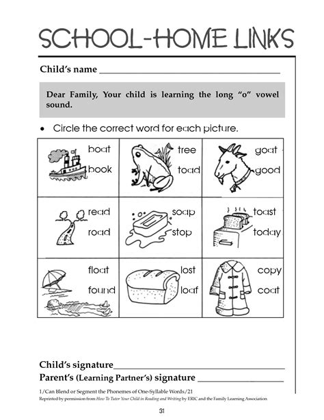 10 Best Images Of Long O Printable Worksheets  Printable Long O Worksheets, Long O Phonics