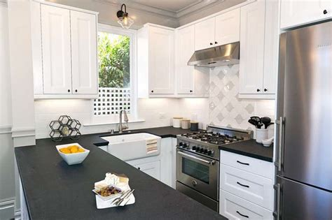 kitchen with black and white cabinets 26 small kitchens with white cabinets designing idea 9627