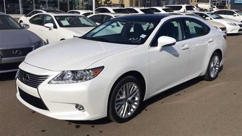 lexus white 2014 2014 white lexus es 350 touring package review edmonton