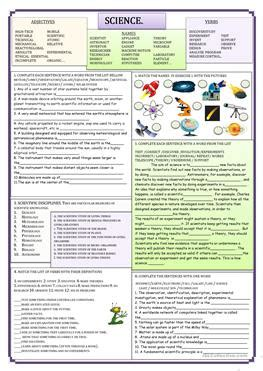 esl science worksheets