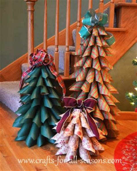 how to make a big christmas tree paper cone trees