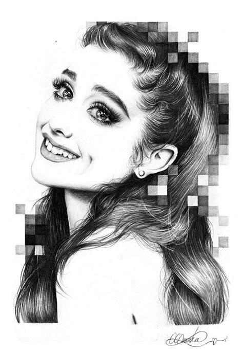 ORIGINAL Ariana Grande Pencil Drawing by Duchess94 on Etsy
