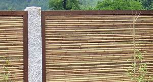 Bambus Sichtschutz Mit Edelstahl : sichtschutz bzw sichtschutzelemente aus bambus finden sie bei der zaunfabrik natur in ~ Frokenaadalensverden.com Haus und Dekorationen