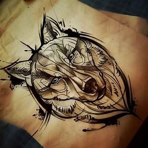 Tatouage Loup Geometrique : 25 melhores ideias de lobo tatuagem no pinterest ~ Melissatoandfro.com Idées de Décoration