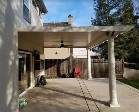 flatwood wall attached patio cover with columns