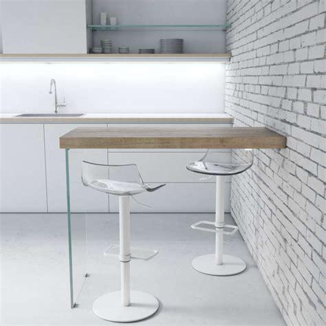 table de cuisine fix馥 au mur table snack murale en stratifié avec pied verre fix 4 pieds tables chaises et tabourets