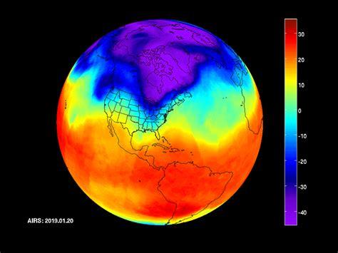 NASA's AIRS captures polar vortex moving in over U.S ...