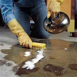 how to get rid of grease stains all floors flooring With remove grease from concrete floor