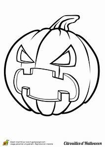 Citrouille Halloween Dessin : coloriage citrouille halloween en col re ~ Melissatoandfro.com Idées de Décoration