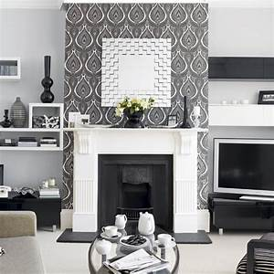 Walls: Wallpaper Inspiration Fireplace Wall