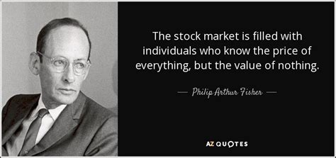 philip arthur fisher quote  stock market  filled