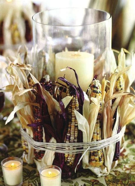 Candle Corn Wrap by Rustic Chic 27 Corn Husks D 233 Cor Ideas For Fall Shelterness