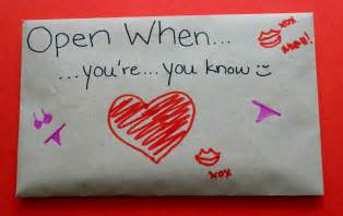 what do you put in an open when envelope ldr13
