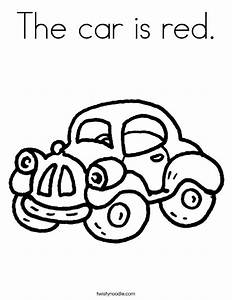 The car is red Coloring Page - Twisty Noodle