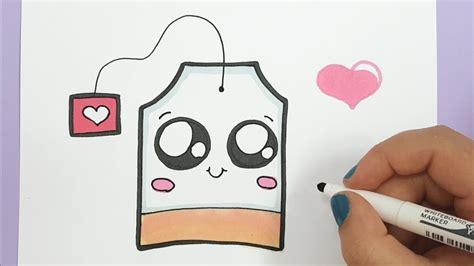 bilder zum nachmalen für kinder kawaii teebeutel selber malen einfach